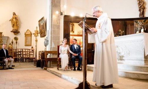 Cérémonie religieuse mariage - Mélanie orsini - Solophotographie
