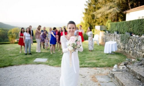 Lancée de bouquet mariage - Mélanie orsini - Solophotographie