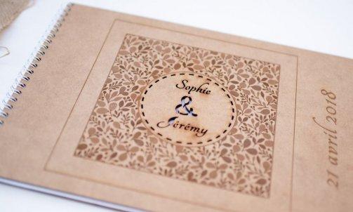 Livre d'or en bois - Mélanie orsini - Solophotographie