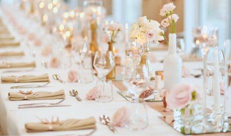 Décoration de table mariage Rose gold et or - Mélanie ORSINI - Solophotographie