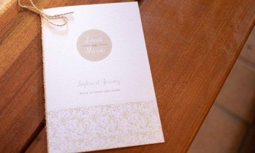 Livret de cérémonie mariage - Mélanie orsini - Solophotographie